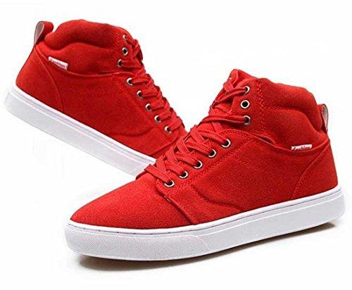jeansian Moda Casuale Sneaker Scarpe Calzature Sportive Scarpe da Uomo Red 7 US SHB011