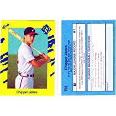 1990 Classic Games Chipper Jones Rookie Baseball Card Atlanta Braves 1st MLB.Card by Classic