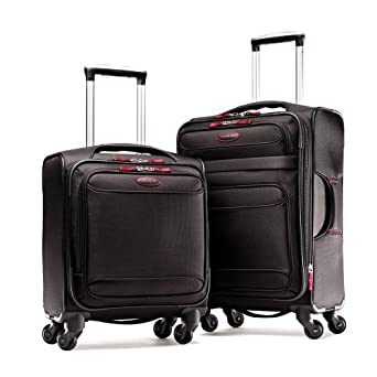 Samsonite Luggage Lightweight 2 Piece Set, Black/Red, Set