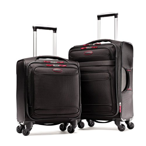Samsonite Luggage Lightweight 2 Piece Set, Black/Red, Set best price