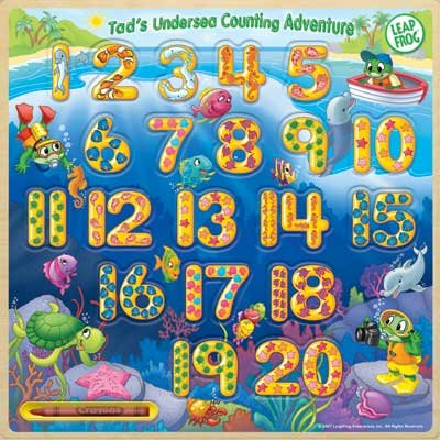 Picture of Leap Frog Enterprises Tad's Undersea Counting Adventure Write-On Wood Puzzle 1-20 (B0021Z8F7C) (Pegged Puzzles)