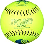 Trump® MP-USSSA-Y MP Leather Series USSSA 12 Inch Blue Stitch Yellow Premium Grade Leather Softball (Sold in Dozens)
