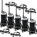 Retevis RT7 UHF 16 Channels FM Two Way Radio (5 Pack) And Covert Air Acoustic Tube Earpiece(5 Pack)