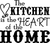 The Kitchen Is The Heart Of The Home wall saying vinyl lettering art decal quote sticker home decal from Wall Sayings Vinyl Lettering