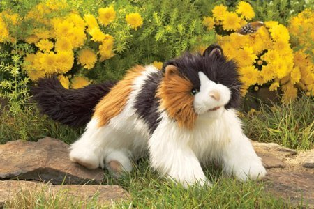 Plush Calico Cat Puppet 20