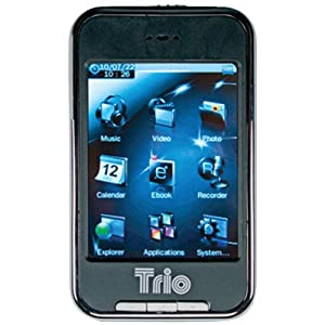Trio Touch 4 4 GB MP4 Player with 2.8-Inch Touchscreen, Black