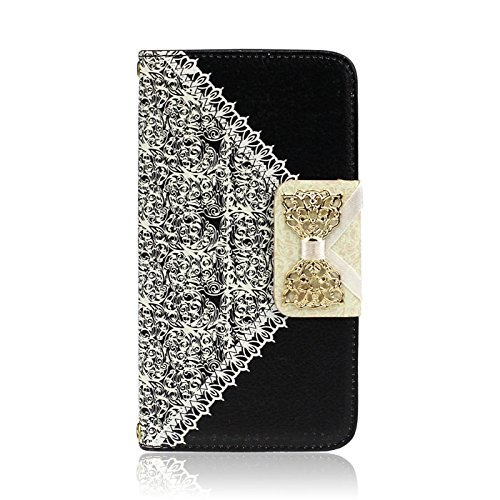 Black Fashion Girl Woman Fresh Sweet Cute Flip Wallet Leather Case Cover For Samsung Galaxy S5 I9600