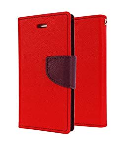 DR2S Mercury Wallet Flip Cover For Samsung Galaxy Grand 3 SM G7200 - Red