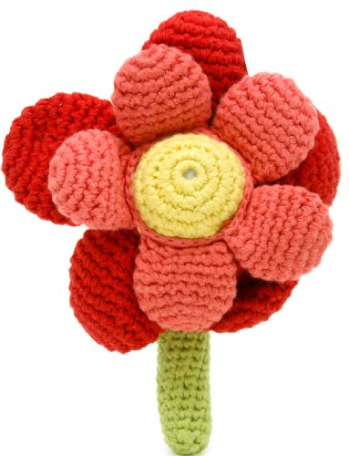 Flower Rattle - Red - 1