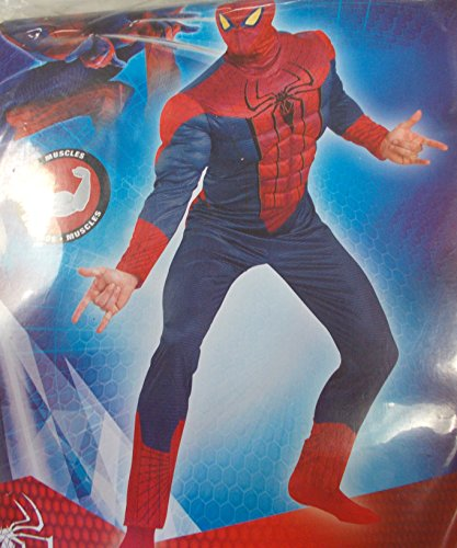 The Amazing Spider-Man Spiderman Muscle Adult Costume XL 40-42 NIP
