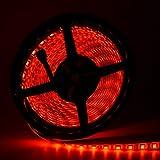 Waterproof LED Strip Lights, Oak Leaf SMD5050 16.4ft RGB Strip Light with 44 Key IR Remote Control