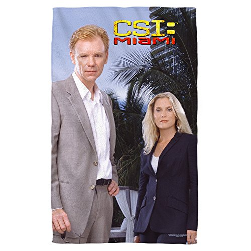 CSI:Miami Action Crime Drama TV Series Blue Sky Beach Towel