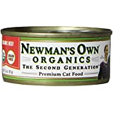 Newman's Own Organics 100% Organic Beef for Cats, 3-Ounce Cans (Pack of 24)