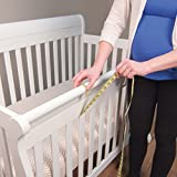 Trend-Lab-Fleece-CribWrap-Rail-Covers-for-Crib-Sides-Set-of-2-Black-Wide-for-Crib-Rails-Measuring-up-to-18-Around
