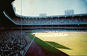 Yankee Stadium, With Capacity Crowd and Players on Field New York, New York Original Vintage Postcard