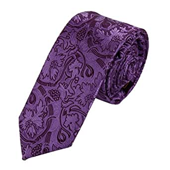 PS1061 Purple Handsome Narrow Tie Matching Gift Box Set Patterned Tie Adults Day Presents Idea For Gift By Epoint
