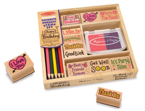 Melissa & Doug Favorite Phrases Stamp Set - 1