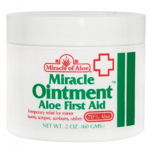 Miracle of Aloe Miracle Ointment Aloe First Aid Cream 2 Oz. For Cuts, Scrapes, Insects, Bites, Poison Ivy and Burns with Lotion Skin Repair Cream Non scaring. No Medicine Cabinet Should Be Without It, Helps Speed Healing and Reduce Scarring. It's Like Having a Live Aloe Plaint in a Jar. Fast Cooling Soothing Relief. Repairs Wounds Fast. (Erythromycin Cream compare prices)