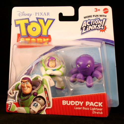 LASER BUZZ LIGHTYEAR & STRETCH Toy Story 3 Buddy Pack DISNEY / PIXAR Mini Figures * 2 Pack * - 1
