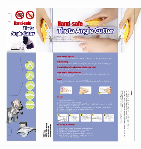 Theta Hand-safe Angle Cutter. Safe Cutting Without the Hand Cuts. Perfect 30,45,60,75, and 90 Degree Cuts.