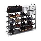 Relaxdays-Schuhregal-mit-Griffen-H-x-B-x-T-ca-905-x-87-x-295-cm-Schuhablage-aus-Vlies-Gewebe-mit-5-Ablagen-fr-25-Paar-Schuhe-als-Schuhstnder-und-Schuhschrank-beliebig-erweiterbar-Regal-schwarz