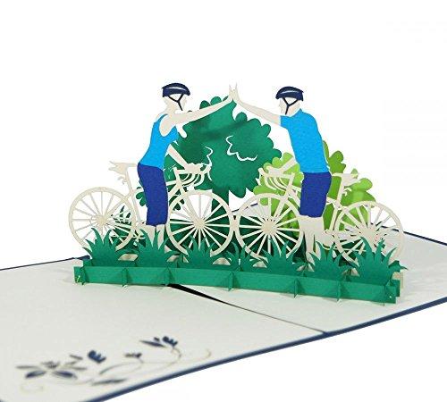 Fahrradtour-Klappkarte-3D-Pop-Up-Karte-Als-Gutschein-fr-eine-Radtour-Grukarte-Geburtstagskarte-Geldgeschenk-Glckwunschkarte-Gutschein-Karte-Urlaubskarte-Dankeskarte-Geschenkkarte-Fahrrad