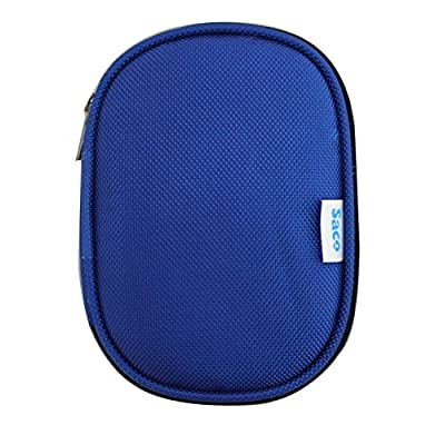 Saco Shock Proof External Hard Disk Case for Sony HD-E2/BO2 2TB USB 3.0 External Hard Drive - Blue