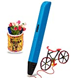 Soyan 3D Pen - Latest 3D Printing Pen for Doodling, Art & Craft Making and 3D Modeling, Compatible with PLA/ABS Filament, Comes with 30 Grams ABS Filament (Blue)