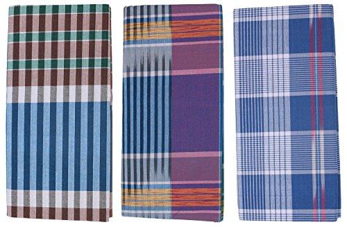Tag-Mens-Cotton-Lungies-Pack-Of-3Super-Combed-CottonPremium-CertifiedMulti-Coloured-Numerous-Designs