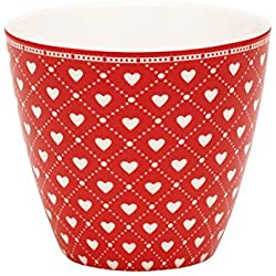 Greengate Haven Latte Cup One Size red