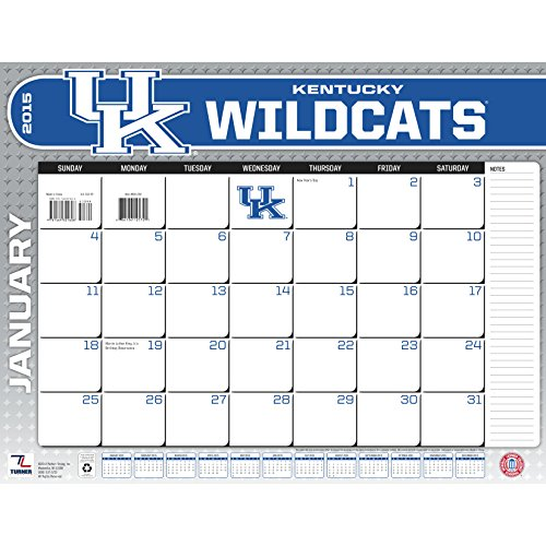 Turner Perfect Timing 2015 Kentucky Wildcats Desk Calendar, 22 X 17 Inches (8061392)