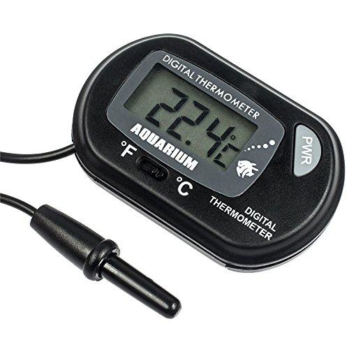 Zacro lcd digital aquarium thermometer fish tank water for Tropical fish temperature