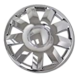 TuningPros WSC-924C15 Chrome Hubcaps Wheel Skin Cover 15-Inches Silver Set of 4