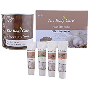 The Body Care Combo Of Pearl Spa Facial Kit + Chocolate wax