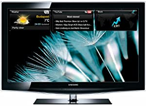 Samsung LE 40 B 650  101,6 cm (40 Zoll) 16:9 Full-HD Crystal TV LCD-Fernseher, Energieeffizienzklasse D, integrierter DVB-T/DVB-C Tuner, 100Hz, 4x HDMI, 2x USB-Video, Internet@TV, Content Library (1G) schwarz