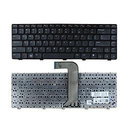 HIGHFINE New US Laptop Keyboard Black for Dell Inspiron N411Z M4040 M4110 N4050 N4110 14R 3420 15 3520 5420 7420 XPS L502X Vostro V131 1540 2520 3450 3550 3555 P/N:0X38K3 KFRTBA209A AER01U00110 90.