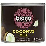 Biona Organic Coconut Milk 200 ml (Pack of 8)