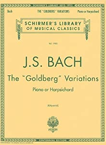 Js Bach The Goldberg Variations Pf Schirmers Library Of Musical Classics from G. Schirmer