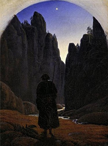 Oil Painting 'Carl Gustav Carus-Pilgrim In A Rocky Valley,1820' Printing On High Quality Polyster Canvas , 20x27 Inch / 51x68 Cm ,the Best Bedroom Artwork And Home Decor And Gifts Is This Beautiful Art Decorative Canvas Prints