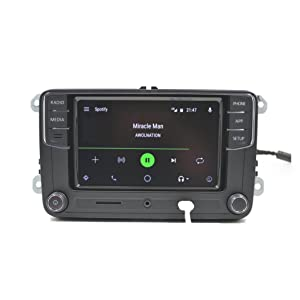 Amzparts Android Auto CarPlay APP R340G RCD330 RCD330G Plus 6.5 MIB Car Radio for Golf 5 6 Jetta CC Tiguan Passat Polo (Color: Noname, Android Auto)