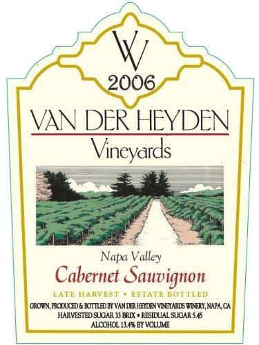 2006 Van Der Heyden Vineyards Late Harvest Napa Valley Cabernet Sauvignon 750 Ml