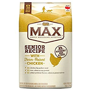 NUTRO MAX Senior Recipe With Farm Raised Chicken Dry Dog Food 25 Pounds