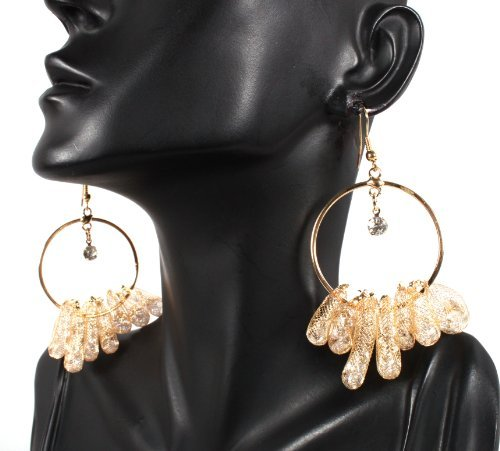 Basketball Wives Gold Capsule Style Drop Earrings Mob Poparazzi