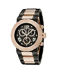 Invicta Men's 6763 Reserve Collection Chronograph 18k Rose Gold-Plated and Black Stainless Steel Watch