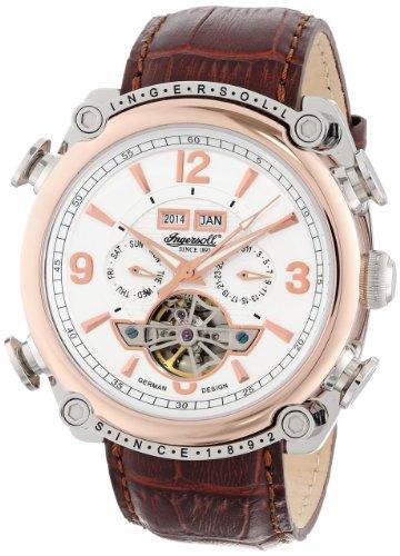 Ingersoll 'Montgomery' - Reloj de mujer de cuarzo, correa de piel color marrón