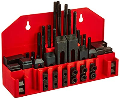 Grizzly 3400-3501 Clamping Kit for 1/2-Inch T-slots, 58-Piece