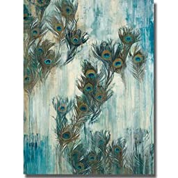 Proud as a Peacock by Liz Jardine Premium Stretched Oversize Canvas (Ready to Hang)