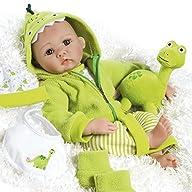 Paradise Galleries Realistic Newborn Baby Doll, My Little Dino & Rex, 18 inch in GentleTouch Vinyl