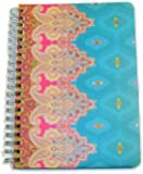 "Carolina Pad Studio C College Ruled Foil Cover Spiral Notebook ~ Taj Mahal (Teal and More; 5"" x 7""; 80 Sheets, 160 Pages)"