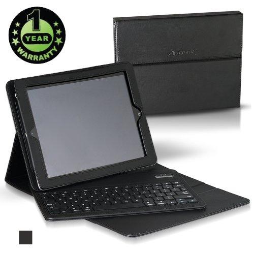 Great Features Of Alpatronix Bluetooth Keyboard Folio Case for iPad 1, iPad 2, iPad 3, and iPad 4 (t...